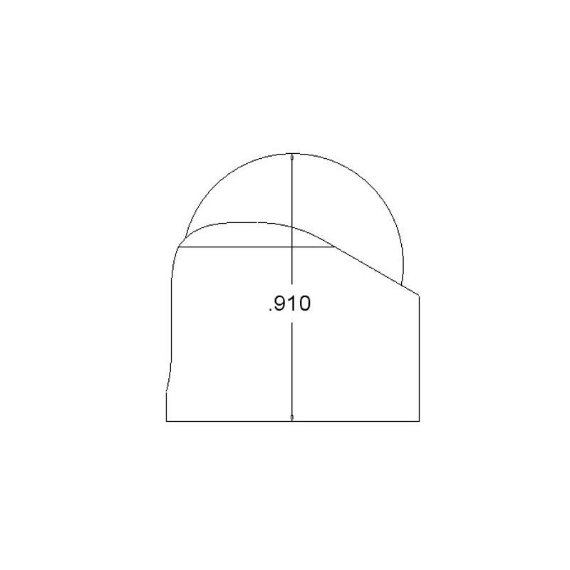 "Ball caster 3/4"" plástico Pololu"