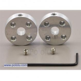 Buje universal en aluminio para eje de 5mm