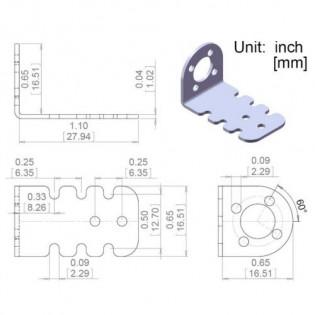 Soporte para motor 25D en aluminio (Par)