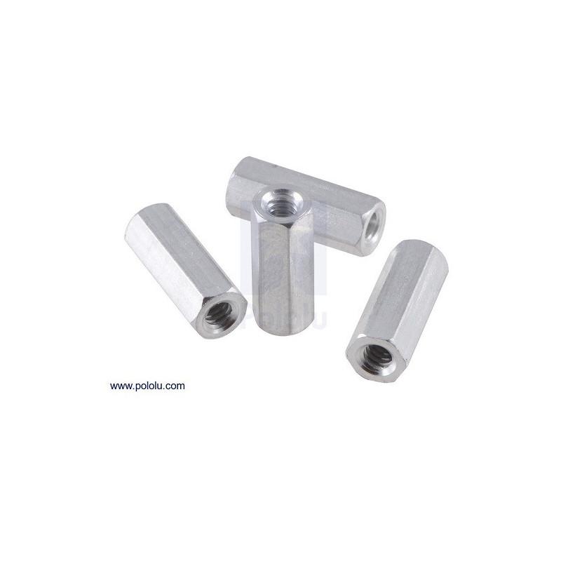 """Separadores en Aluminio Hembra - Hembra 1/2"""" (x4)"""