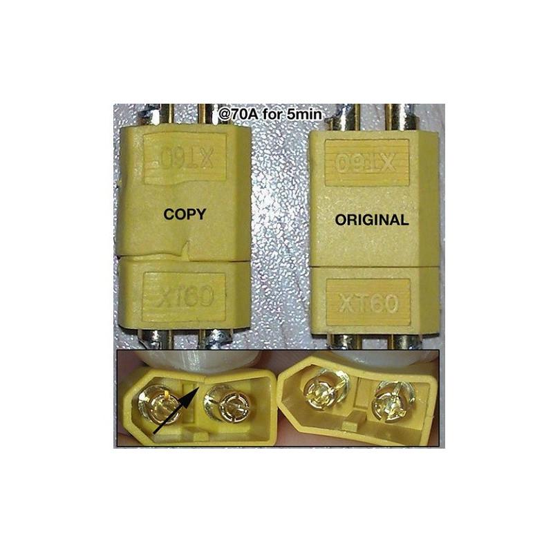 Conectores XT-60 macho (5 Piezas)