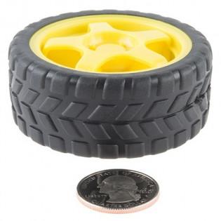 Par de ruedas con neumático de goma- 65mm