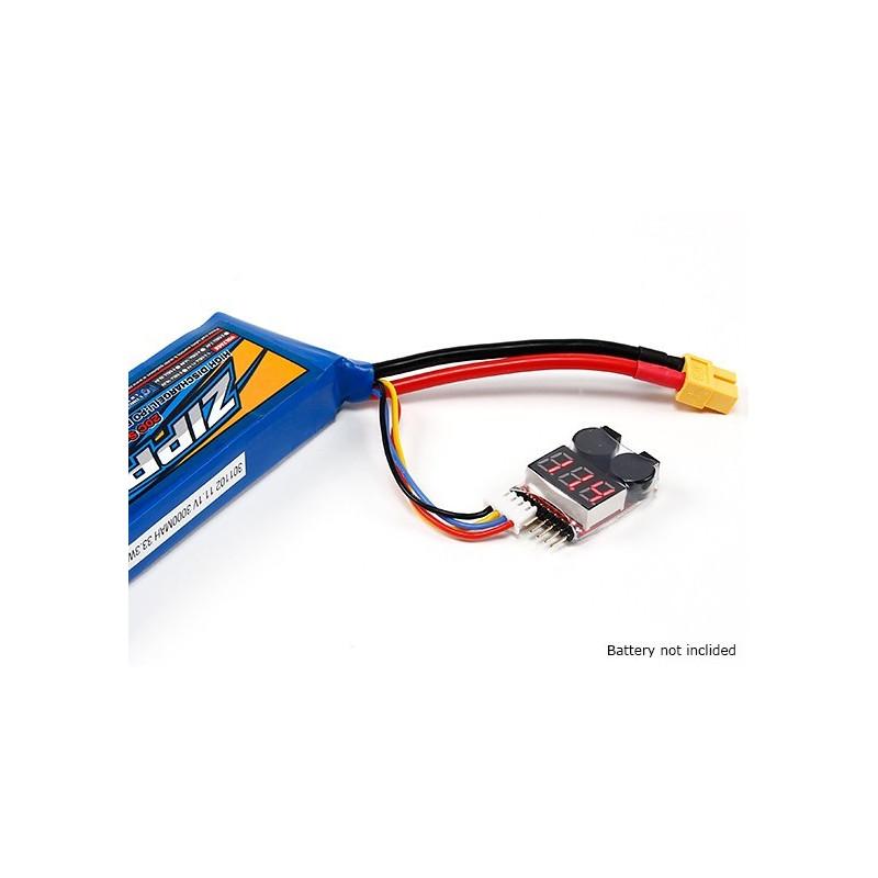 Indicador de bajo voltaje para baterías Lipo