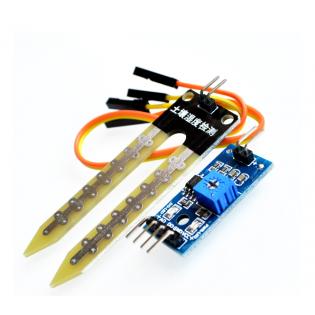 Sensor de humedad del suelo con cables