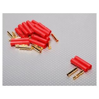 Conectores HXT 4mm Gold con Protector
