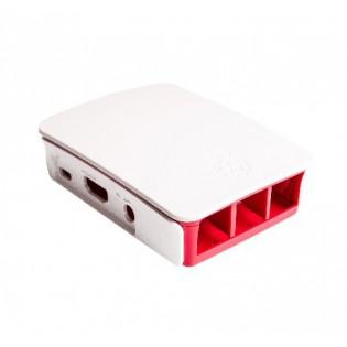 Caja para Raspberry Pi 3 Genérica Blanca con Rojo