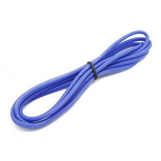 Cable siliconado 16AWG HQ Turnigy 1m Azul