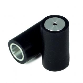 Ruedas Seguidor de Línea Aluminio - Negro