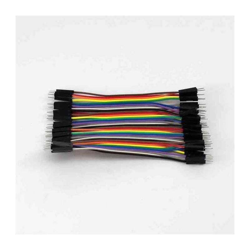 Conectores rápidos Macho - Macho 10cm x 40