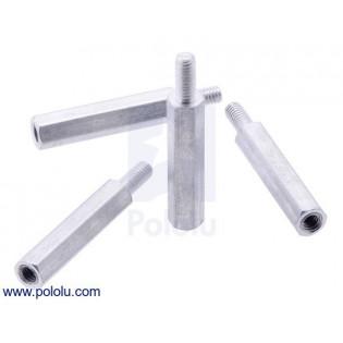 Separadores de aluminio Raspberry pi 18.6mm