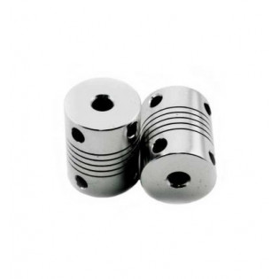 Acoplador flexible 5 mm * 5 mm para eje paso a paso impresora 3D