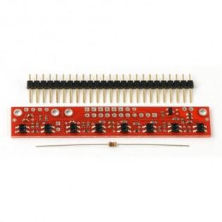 Sensor de linea (QTR-8A) - Análogo arreglo de (8)