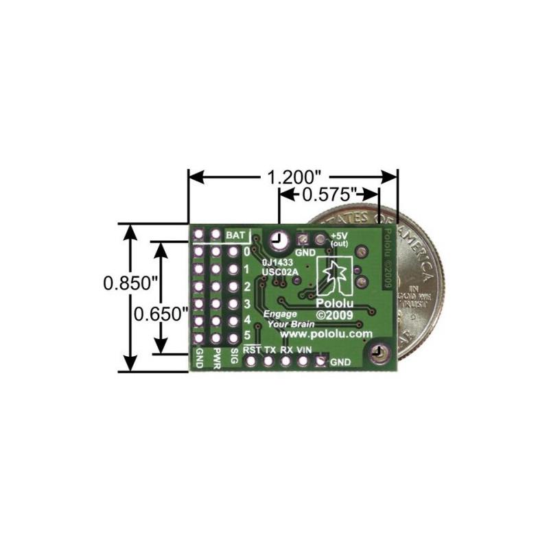 Controlador de Servos USB - 6 Canales