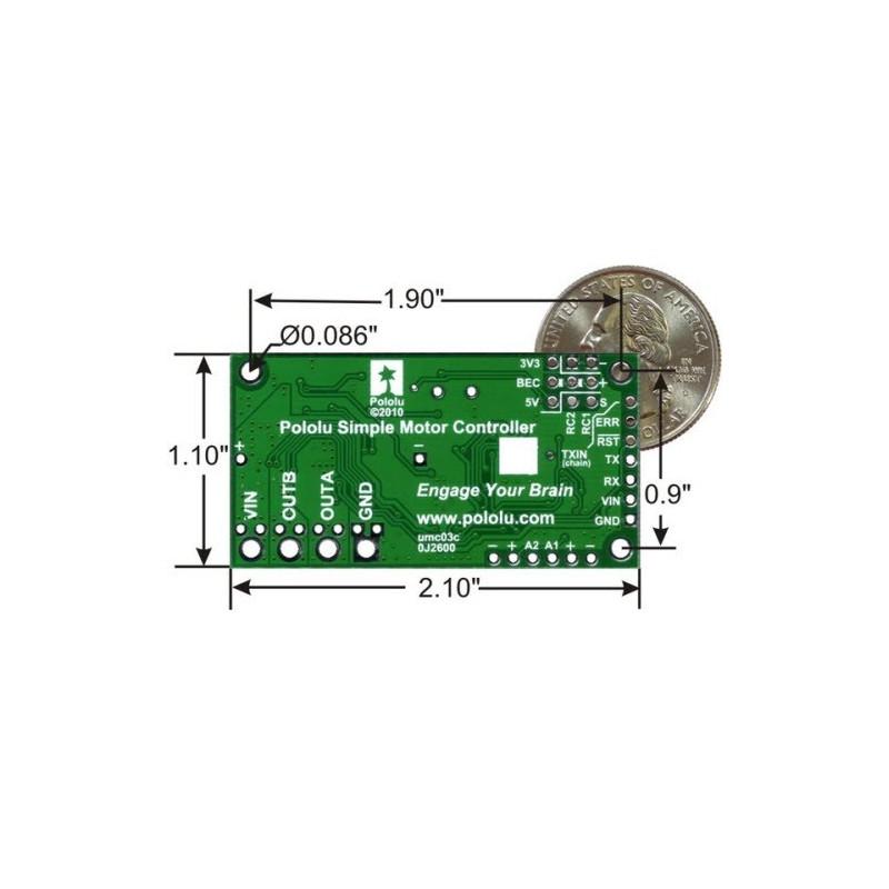 Controlador de motor Pololu 18v7 - Ensamblado